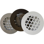 Decorative Round Floor Grill 6 inch - In Stock