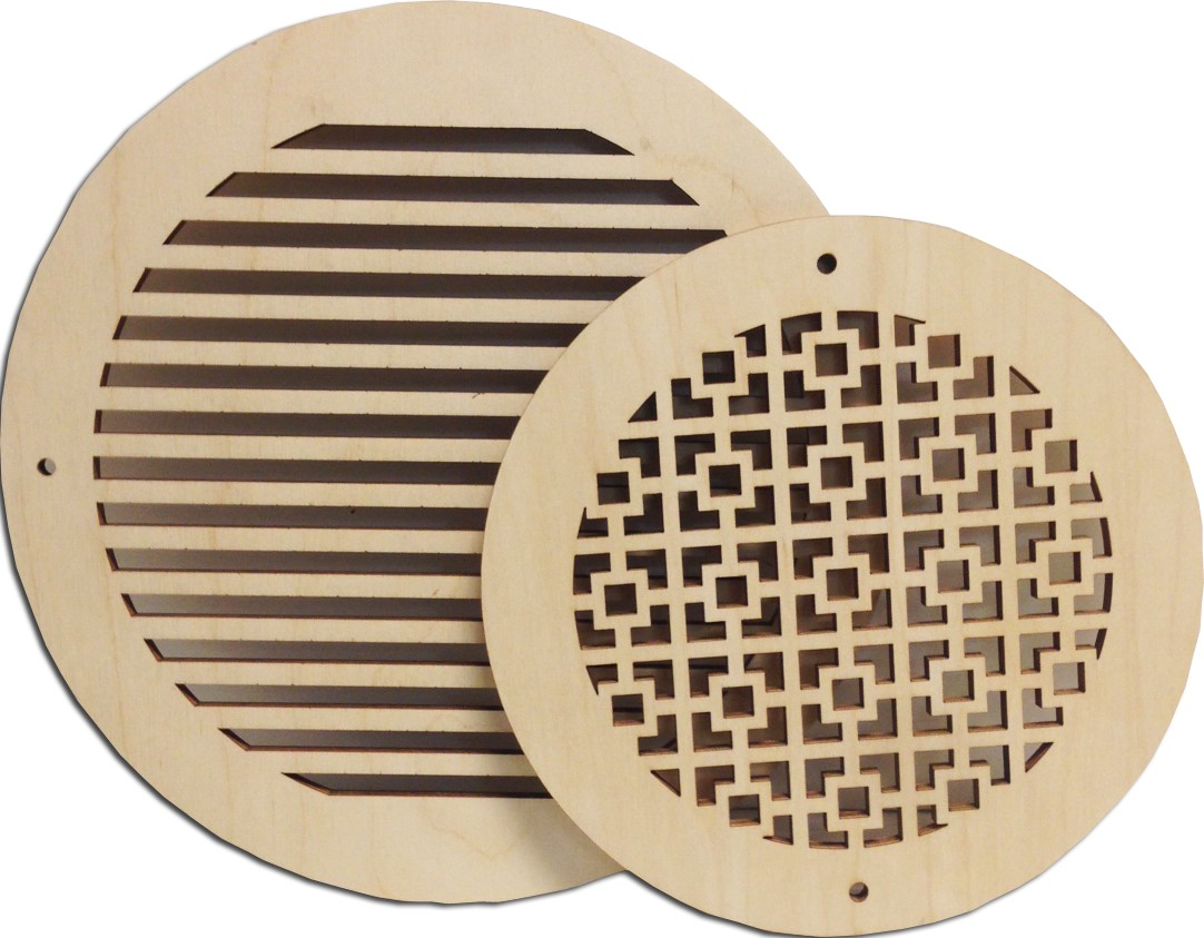 Pattern Cut Round Wall Grille