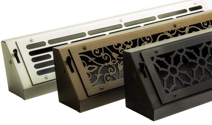 Baseboard Diffuser Vent Decorative Metal Register