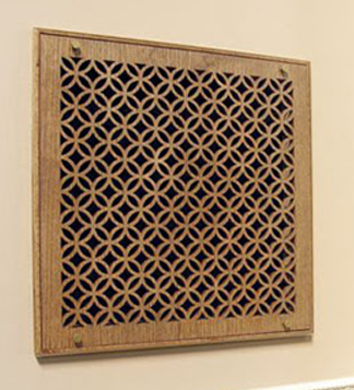 Pattern Cut Wood Filter Grilles