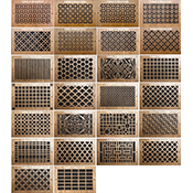 Pattern Cut Wood Wall Register